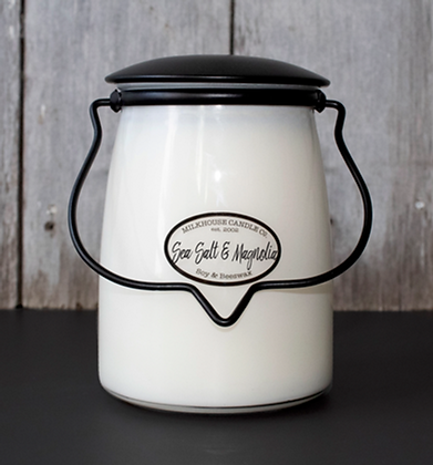 Butter Jar 22 oz: Sea Salt & Magnolia