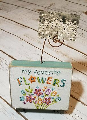 Primitives by Kathy Photo Block Favorite Flowers