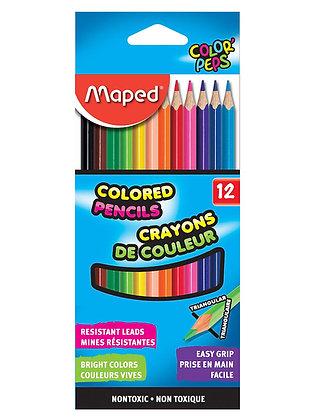 Maped 12 Pc Set Triangular Colored Pencil Sets