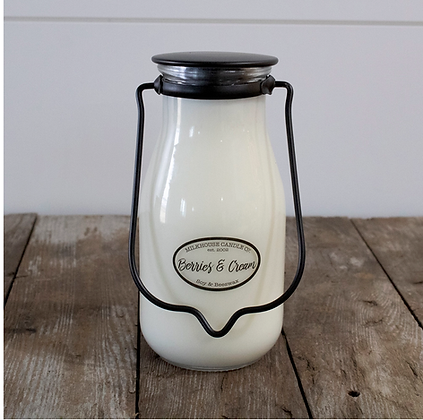 Milkbottle Pint Jar: Berries & Cream
