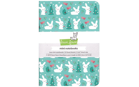 Lawn Fawn Collection Snow Day Remix Mini Notebooks- Pack of 2 mini notebooks