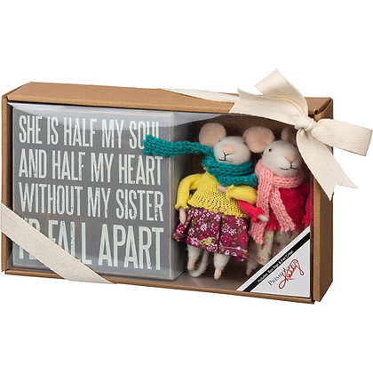 Felt Gift Set - Without My Sister I'd Fall Apart