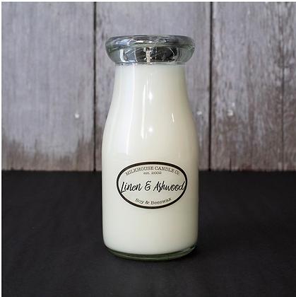 Milkbottle Candle: Linen and Ashwood