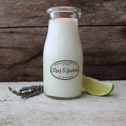 Milkbottle Candle: Eucalyptus & Lavender