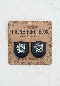 Set of 2 Black Phone Ring Hooks