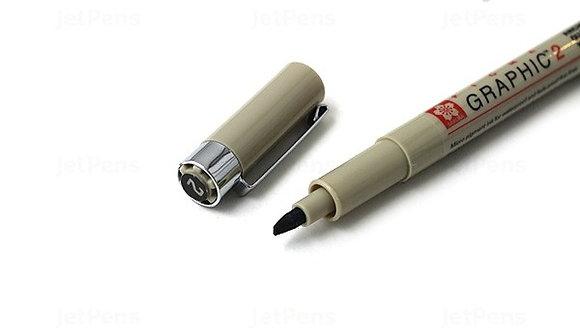 Sakura Pigma Graphic Pen - Chisel Point- Black Ink