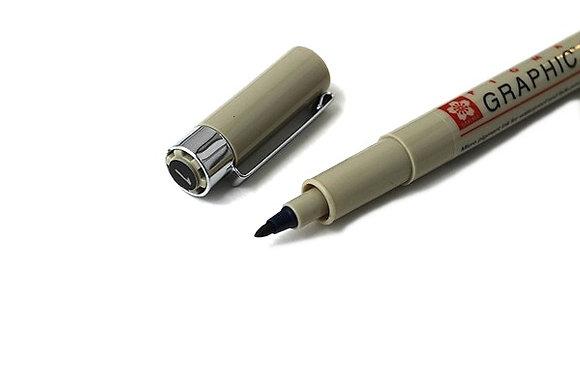 Sakura Pigma Graphic Pen - Bullet 1.0 mm - Black Ink
