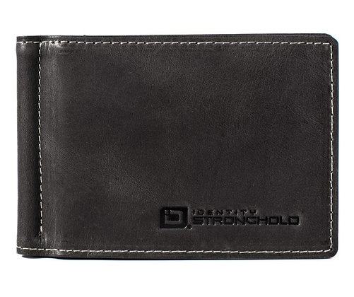 Mens RFID Wallet- Classic Money Clip with ID