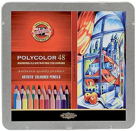 Koh-I-Noor PolyColor Artist Colored Pencils Set 47