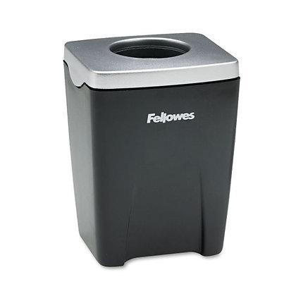 Fellowes Office Suites Paper Clip Cup, Plastic, 2 7/16 x 2 3/16 x 3 1/4, Black/S