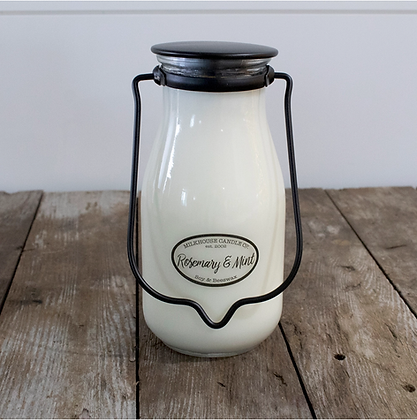 Milkbottle Pint Jar: Rosemary & Mint