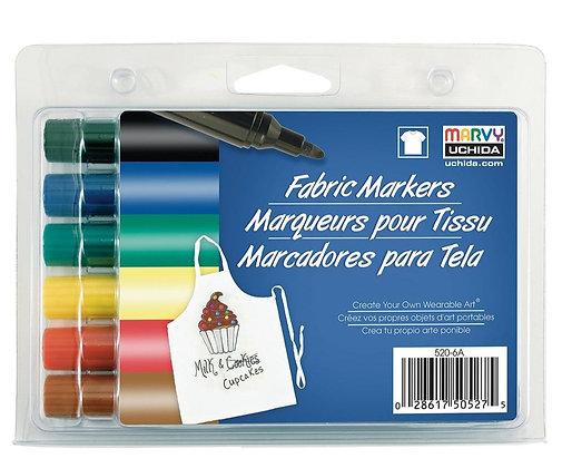 Marvy Fabric Markers Brilliant Set