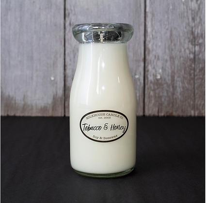 Milkbottle Candle: Tobacco & Honey