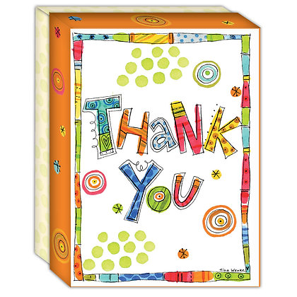 Confetti Thank You - Boxed Thank You Cards Box of 1