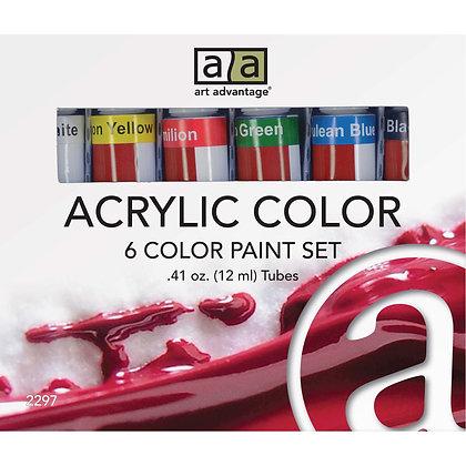 Art Advantage Acrylic Paint Set 6 Color