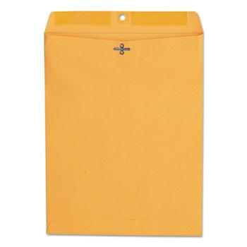 Kraft Clasp Envelope, #97, Square Flap, Clasp/Gummed, 10 x 13, Brown Kraft