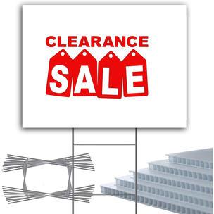 Clearance Sale Yard Sign