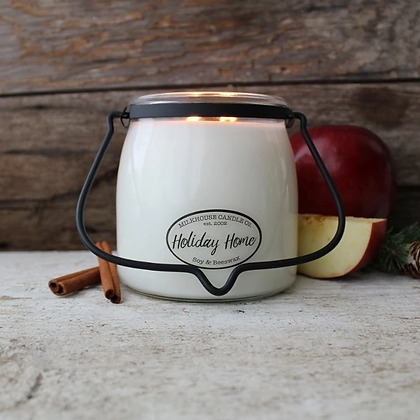 Butter Jar 22 oz: Holiday Home