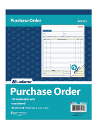 """Adams® Carbonless Purchase Order Book, 8 3/8"""" x 10 11/16"""", 2-Part"""