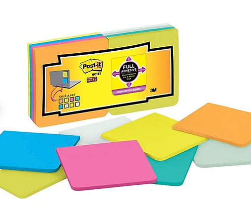 Post-it® Super Sticky Full Adhesive Notes, Rio de Janeiro 3X3IN