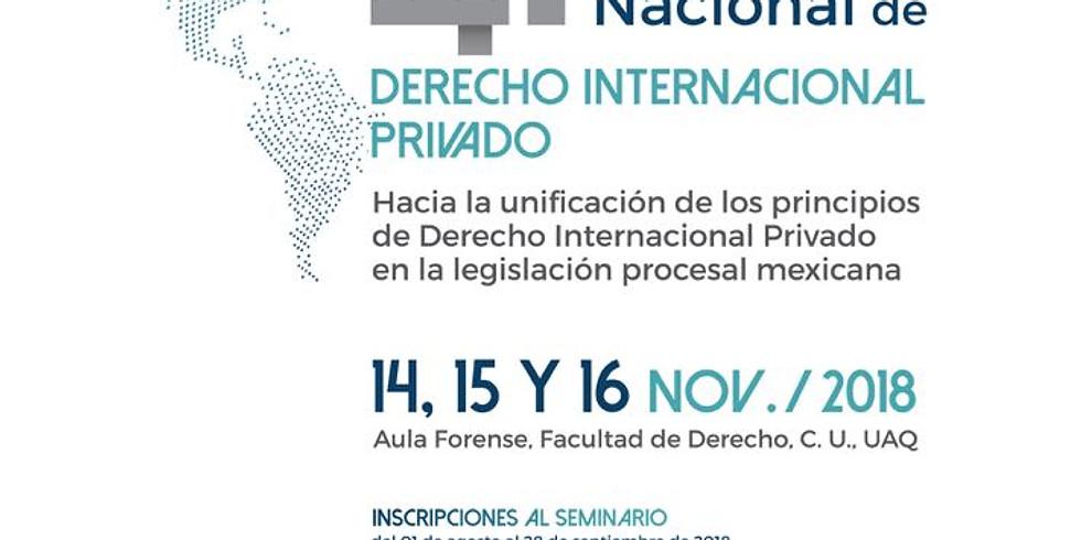 XLI Seminario Nacional de Derecho Internacional Privado