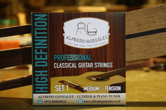 מיתרים לגיטרה קלאסית אלפרדו גונזלס PROFESSIONAL