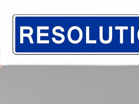 TOUS les jours, prendre de de bonnes RESOLUTIONS !!!