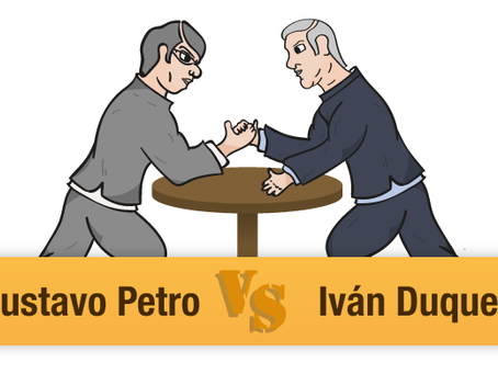 Gustavo Petro VS Iván Duque La izquierda vs la derecha