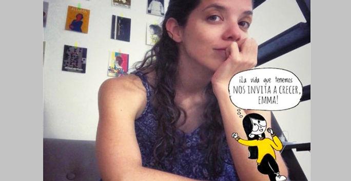 Una psicóloga que siguió su sueño de ser caricaturista
