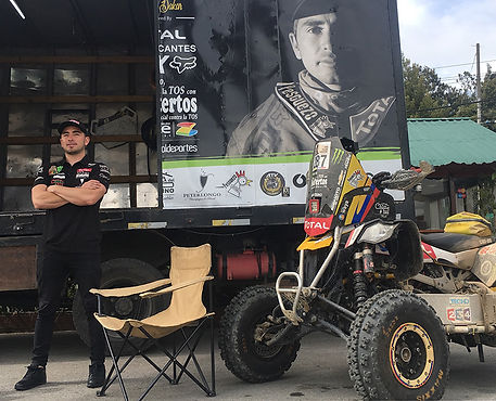 Cajicá, el primer colombiano en terminar un Rally Dakar