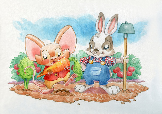 Visiting Farmer Bunny's Vegetable Patch
