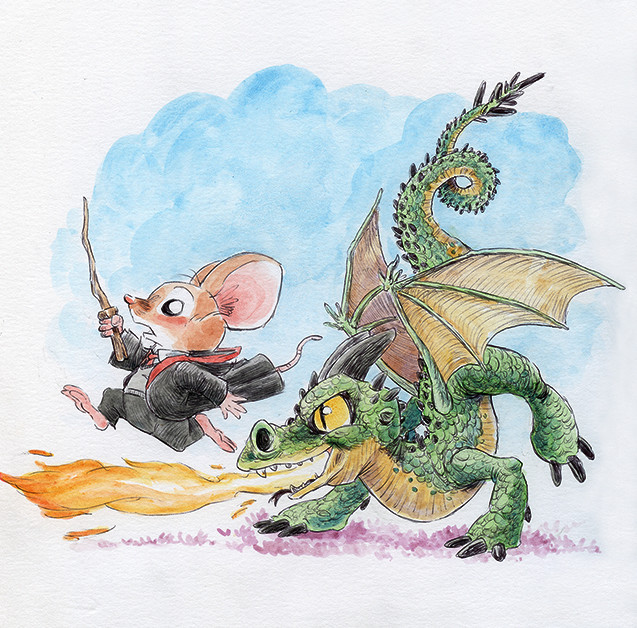 Baby dragons are not friendly.