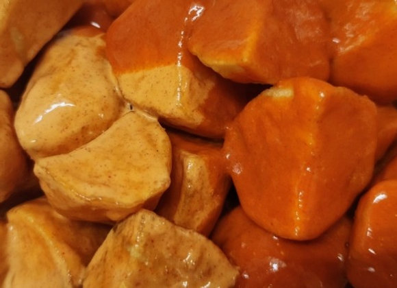 Patatas bravas con mojo picón