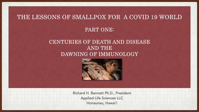Smallpox Lessons for a COVID 19 World