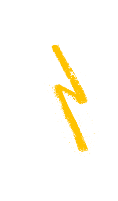 yellow lightening illustration
