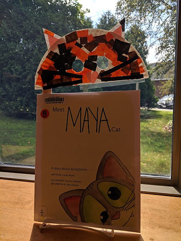 Meet Maya Cat book with craft