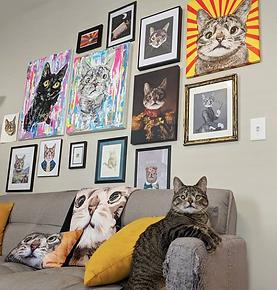 Maya in front of her fan art