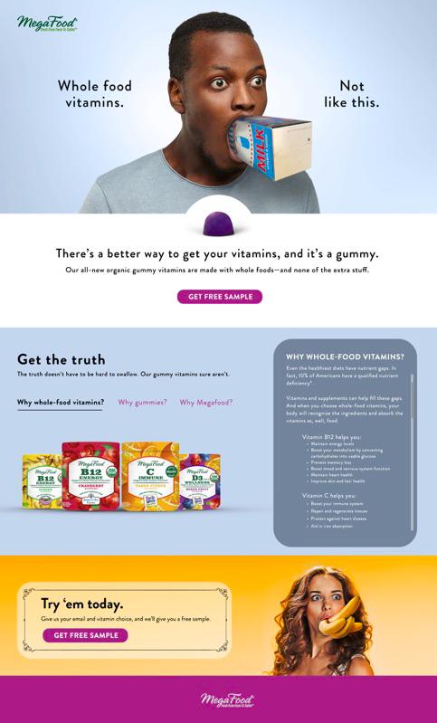 MegaFood Gummy Ad