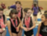Yellow Jackets Special Olympics gymnastics team