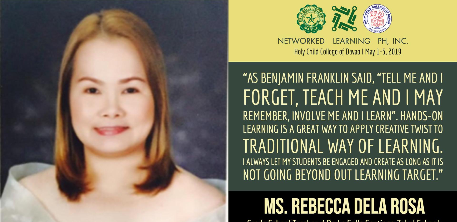 Ms. Rebecca Dela Rosa