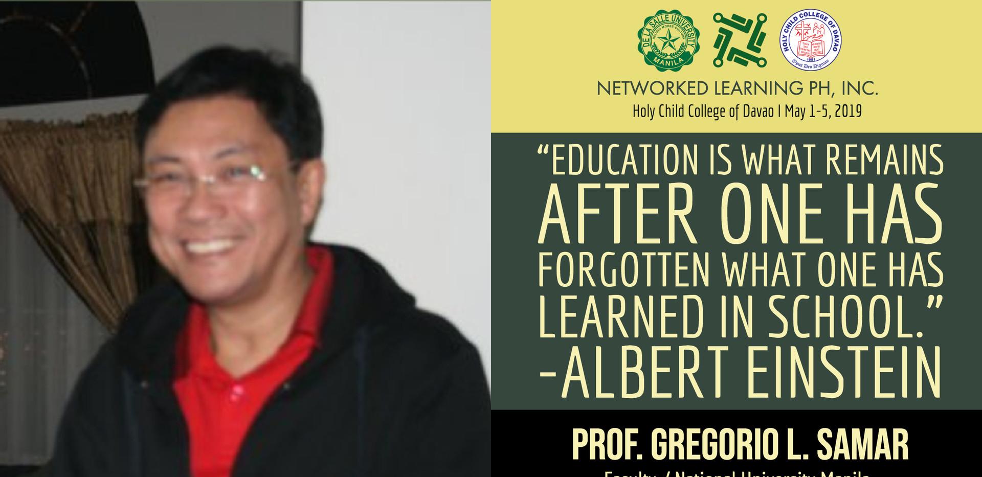 Prof. Gregorio L. Samar
