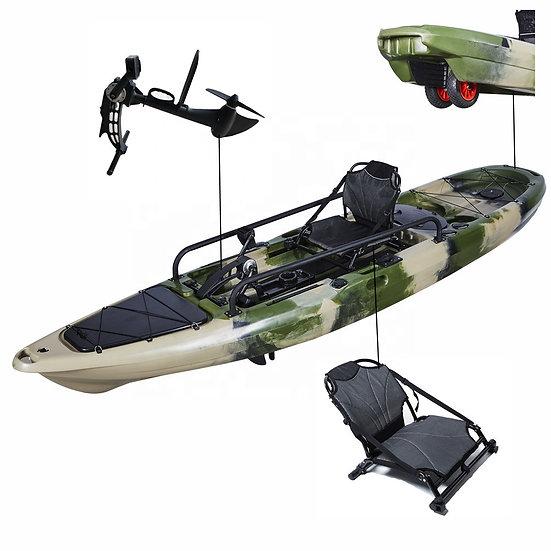 Каяк для рыбалки одноместный педальным узлом FishermanLife (BigRig Propel 13)