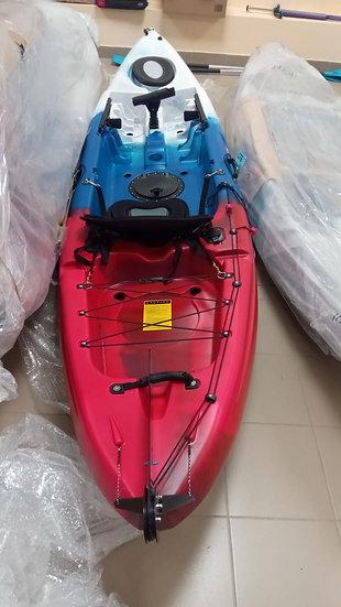 Каяк одноместный для рыбалки и охоты FishermanLife Tricolor