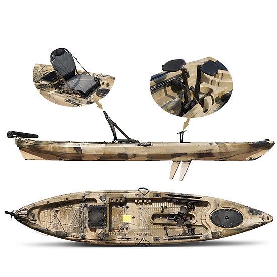 Каяк для рыбалки одноместный с педальным невинтовым узлом FishermanLife