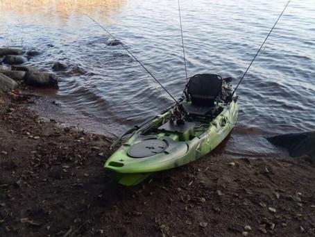 Рыбалка на каяке!