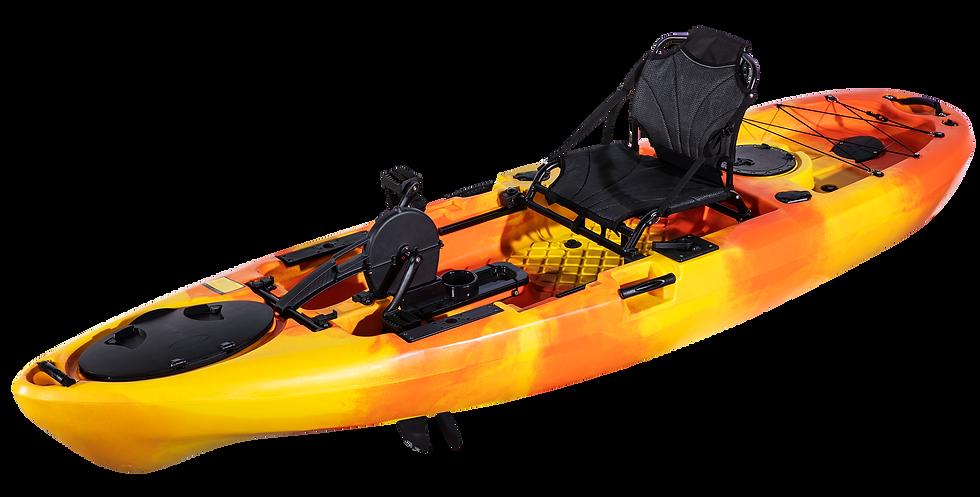Каяк для рыбалки одноместный с педальным узлом FishermanLife (Pedal Craft 10)