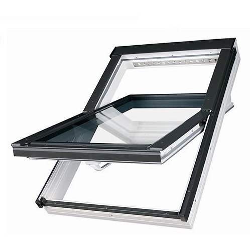Мансардное окно PTP-V U4 PROFI ПВХ с двухкамерным стеклопакетом и вентклапаном