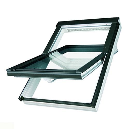 Мансардное окно PTP-V U3 серия PROFI ПВХ с вентклапаном
