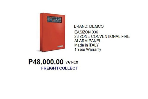 EASIZON 28-ZONES CONVENTIONAL FIRE ALARM PANEL
