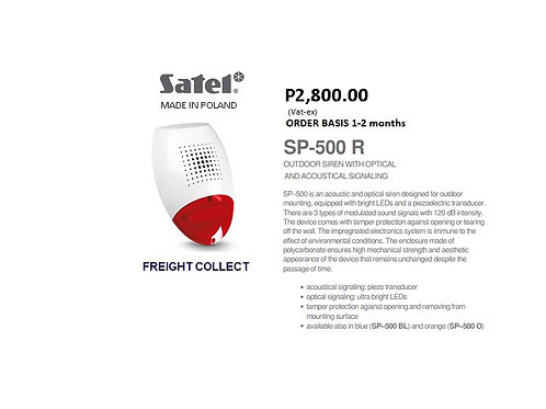 SATEL  INTRUSION SIREN MODEL#SP-500 R